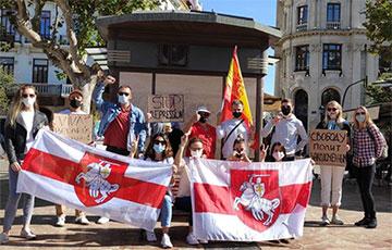 В Валенсии прошла акция солидарности с белорусами