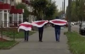Жыхары Баранавічаў выйшлі на пратэстны марш