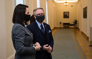 Светлана Тихановская встретилась с главой администрации президента Польши Кшиштофом Щерским