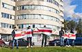 Цепь солидарности выстроилась в столичном Уручье