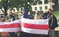 Студенты юрфака БГУ вышли на акцию солидарности