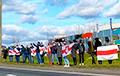 Минчане выстроились в цепь солидарности вдоль МКАД