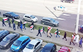 Минчане идут маршем по улице Тимирязева
