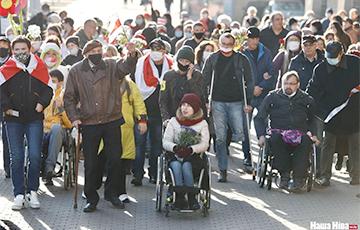 В Минске прошел Марш людей с инвалидностью