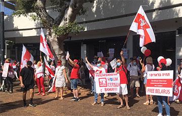 «Даешь забастовку!»: Тель-Авив поддержал протестующих белорусов