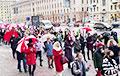 Женский Марш проходит по проспекту Независимости