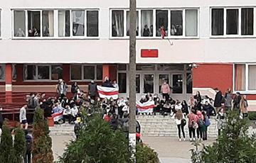 Ученики и преподаватели жодинской гиманзии вышли на протест