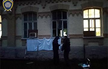 Здание Мозырьской ГАИ подожгли коктейлем Молотова