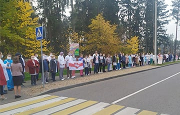 Solidarity Chain Lined Up In Barauliany To Support Strikers