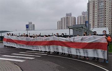 Работнікі ПВТ выйшлі на акцыю салідарнасці са страйкоўцамі