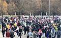 Марш в Минске вышел на проезжую часть