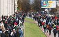 В Минске одна колонна движется возле Национальной библиотеки