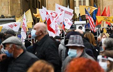 В Тбилиси проходит митинг с требованием проведения новых выборов