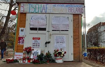 Белорусы Берлина почтили память Романа Бондаренко