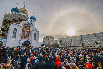 Фотофакт: Солнечное гало на прощании с Романом Бондаренко