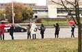 Минчанки встали в цепь солидарности на улице Притыцкого