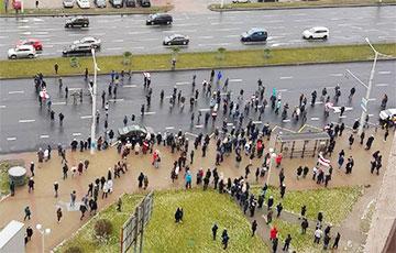 Протестующие в Каменной Горке снова собрались назло силовикам