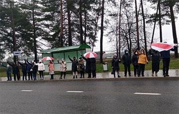 В разных частях Гродно протестующие вышли на акции