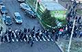 Видеофакт: Колонны протестующих по всему Минску