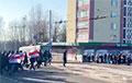 Как в Заводском районе Минска объединились две колонны