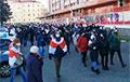 Огромная колонна прошла Маршем в Заводском районе Минска