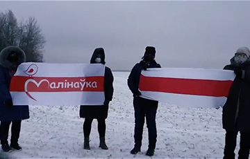 Минская Малиновка на акции протеста передала привет соседним районам