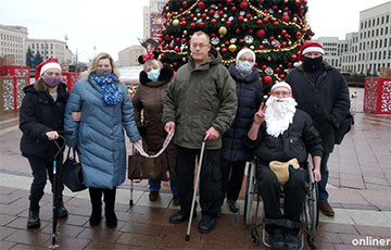 Люди с инвалидностью вышли на акцию протеста в Минске