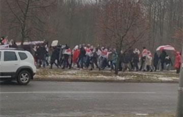 В разных районах Минска формируются протестные колонны