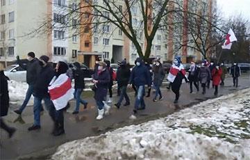 Минчане вышли на марш в Ковальской слободе