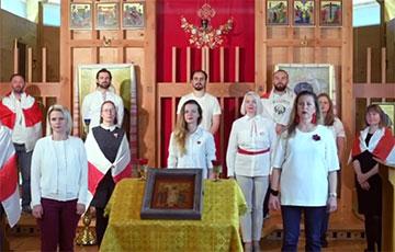Белорусы Лондона потрясающе исполнили «Магутны Божа»