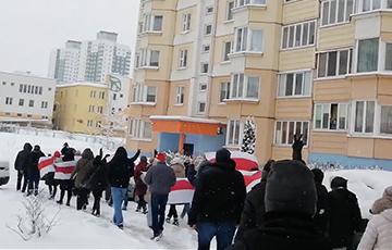 Каменная Горка вышла на партизанский марш