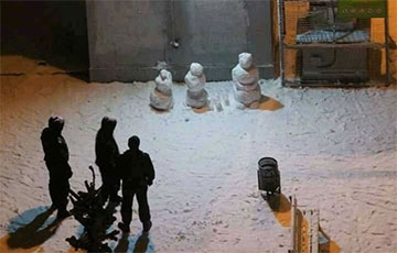 Снеговики с Площади Перемен повергли карателей в ступор