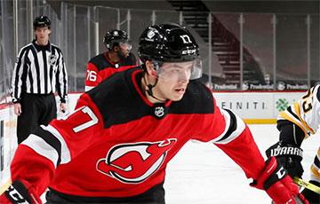 Шаранговіч распавёў пра першую закінутую шайбу ў НХЛ