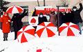 В Гродно, несмотря на мороз, пенсионеры вышли на протест