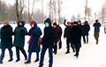Жыхары Дзяржынска правялі марш у цэнтральным парку