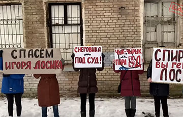 Minsk Dambrouka Went to the Rally of Solidarity