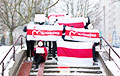 Minsk Residents Go to Rallies With White-Red-White Flags