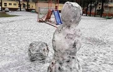 В Полоцке выпал черный снег