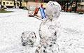 У Полацку выпаў чорны снег