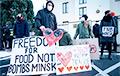 В Праге прошла акция солидарности с белорусами