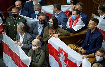 Украинская депутат София Федына — белорусам: Не останавливайтесь, идите напролом и вперед
