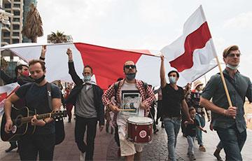За границей насчитали 116 активностей, приуроченных ко дню солидарности с Беларусью