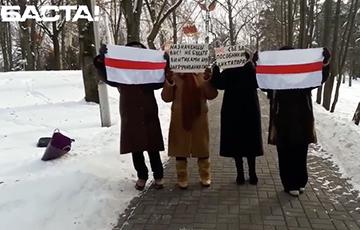 Пенсионеры Минска вышли на протестную акцию