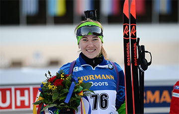 The Biathlete Who Boycotted the Pro-government Letter Won Bronze at the Biathlon World Cup