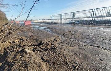 В Борисове смыло «генеральскую дорогу»
