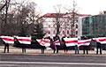 Жители Романовской Слободы с самого утра вышли на акцию в центре Минска