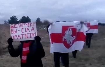 Вилейские партизаны вышли на воскресный марш