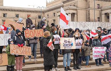 Акцыі салідарнасці з беларусамі прайшлі ў некалькіх гарадах Польшчы