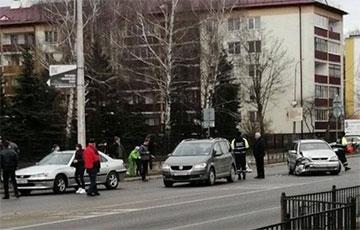 В Кобрине три авто «ябатек» столкнулись по принципу домино