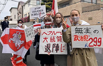 «Лукашенко в отставку!»: белорусы Токио вышли на митинг в честь Дня Воли